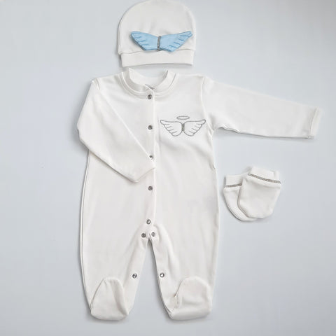Blue Angel Wings Babygro Set