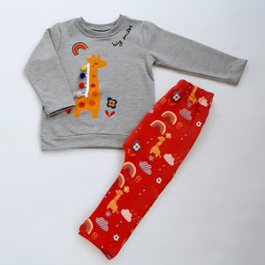 Norah Giraffe Top & leggings