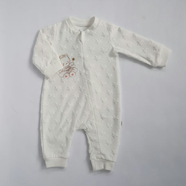 Tara Baby Girls White Babygro