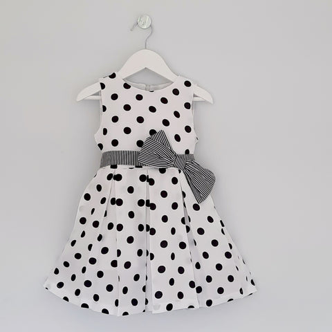 Ruth Girls Black Polka Dress