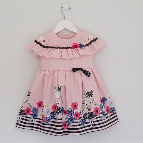 Esra Baby Girls Pink Dress