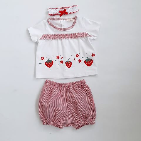 Sandra Baby Girls Strawberry Set