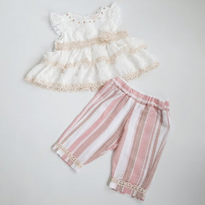 Pia Baby Girls Linen Set