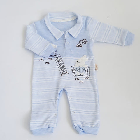 Baby Boys Blue Onesie