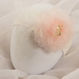 Single Tutu Hair band - Pink Pearl Feather