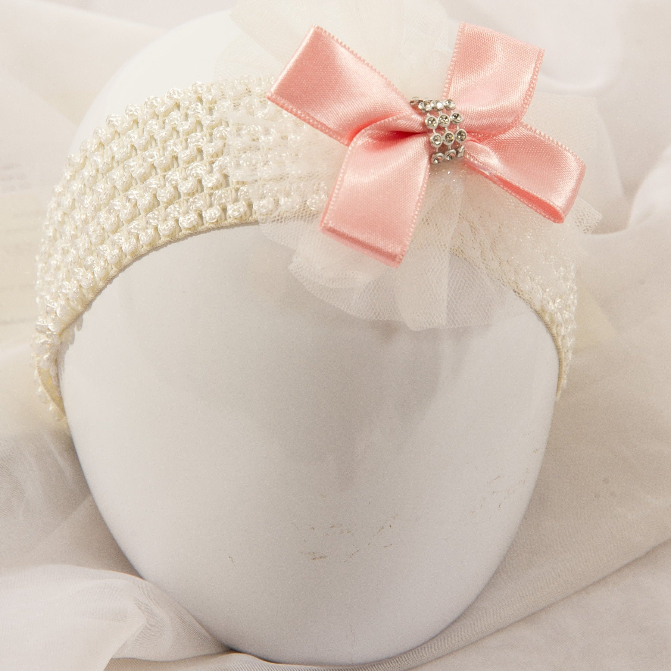 Single Tutu Hair band - Pink Bow Diamante