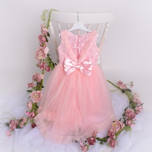 Flower Girls Dress & Hair band- Annabelle