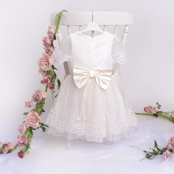 Flower Girl Dress & Hairband- Evie