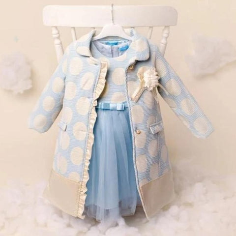 Ky Ky Kids Blue and Cream Coat