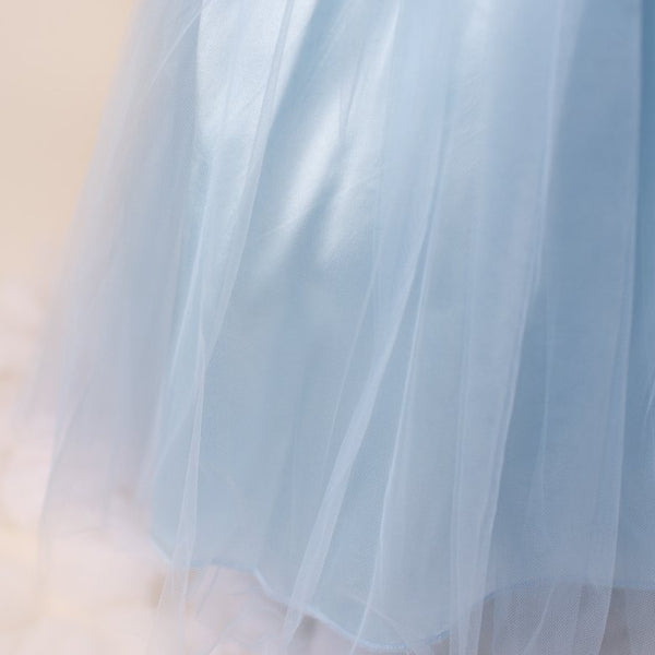 Ky Ky Kids Blue Tulle Dress Closeup