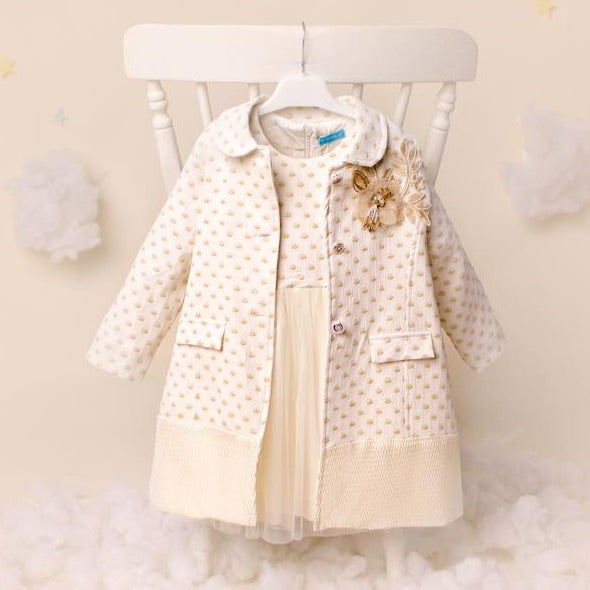 Ky Ky Kids Cream Coat and Dress