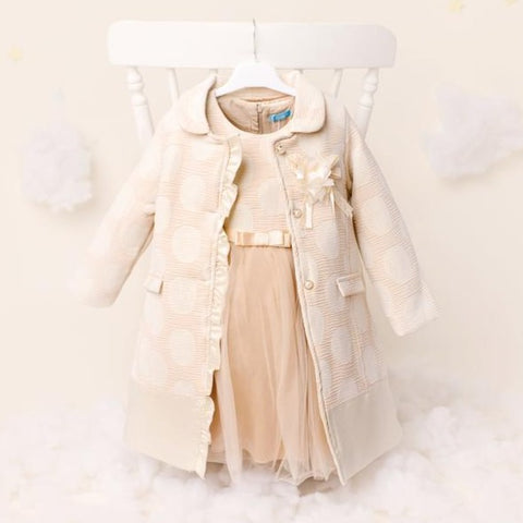 ky ky kids cream circle dress