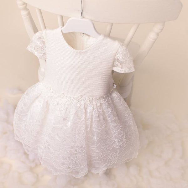 Ky Ky Kids Molly White Lace Dress Closeup