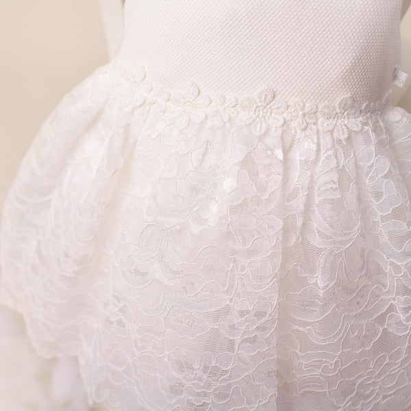 Ky Ky Kids Molly White Lace Dress Closeup SKirt
