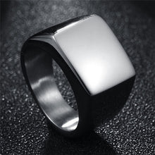 Customized Polished  Ring Engraved with Photo or Name