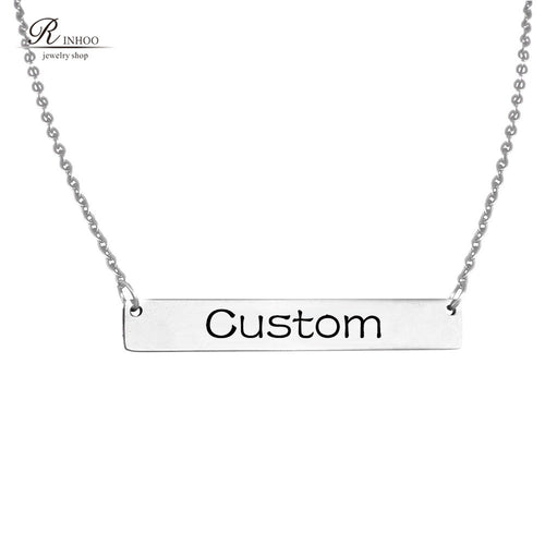 Personalized Engraved Necklace For Women