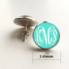 customized stripe stud earrings