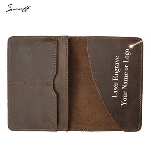 Coffee Genuine Leather Passport Cover