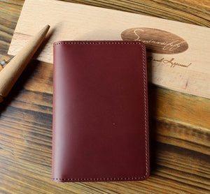 Simple Style Genuine Leather Passport