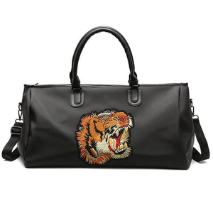 Tiger Embroidered Luxury Travel Bag
