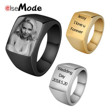 Customized Engraved Engagement Wedding Rings