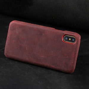 iPhone 6s Plus case handmade Genuine Cow Leather
