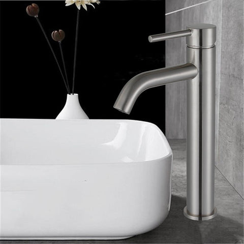Single Handle Modern Bathroom Sink Faucet | UPC Certified Deck Mount Single Hole with Polish Chrome or Brushed Nickel finish - VA10119A1-PC/BN