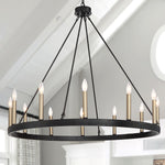 Bonview 12-Light Wagon Wheel Chandelier
