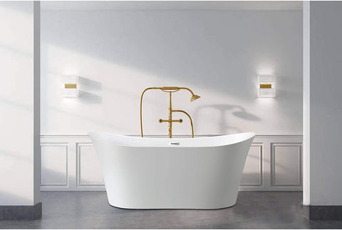 "67"" x 29"" Freestanding Acrylic Bathtub 