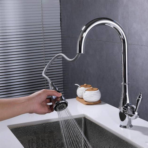 F80002 BN Pull Down Single Handle Kitchen Faucet