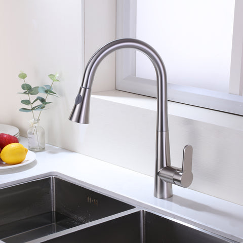 F80006 BN Pull Down Single Handle Kitchen Faucet