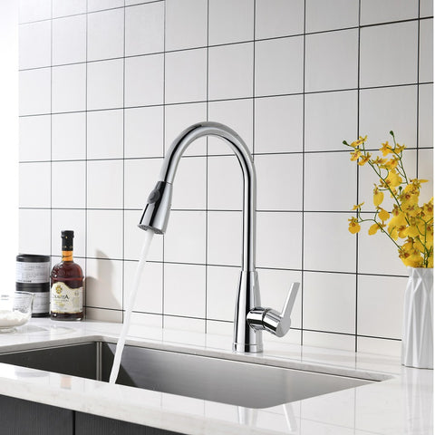 F80099 Pull Down Single Handle Kitchen Faucet