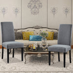 Set of 2 Upholstered Dining Chairs Solid Wood Living Room Dining Room Armless Accent Chairs UC-6T/G