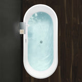 "59.1"" x 29.5"" Freestanding Acrylic Bathtub 