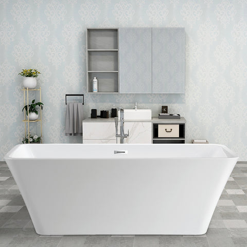 "67"" x 29.5"" Freestanding Acrylic Bathtub 
