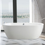 "67.3"" x 30.7"" Freestanding Acrylic Bathtub 