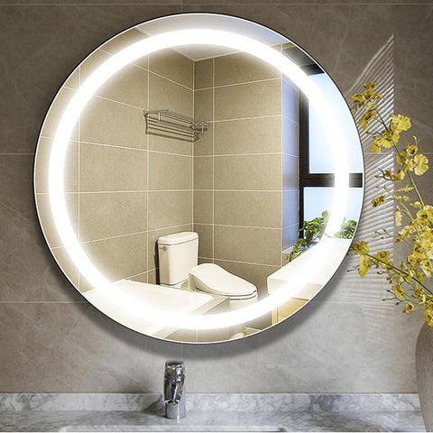 "24"" x 24"" Frameless LED Lighted Illuminated Bathroom Vanity Wall Mirror 