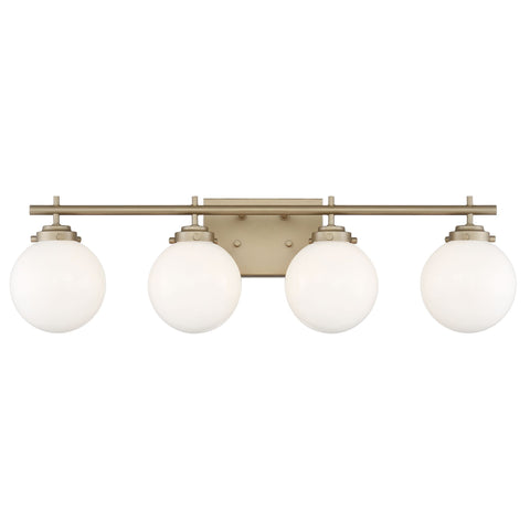 Vanity Art Elegant Bathroom Vanity 4 Lights Clear Glass Shade Indoor Globe  Wall Light Chrome Bath Lights 10104BD-GO