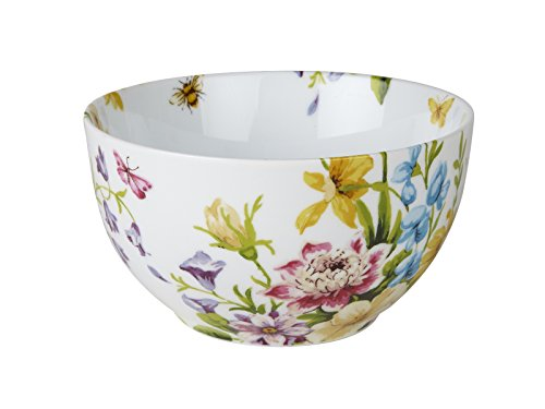 "Katie Alice ""English Garden"" Stoneware Floral Cereal Bowl-Set of 2"