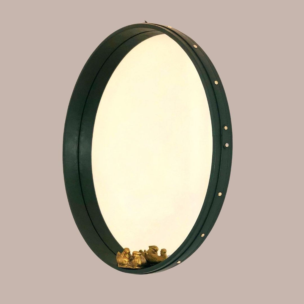 Dark Olive Green Mirror - 24 inches