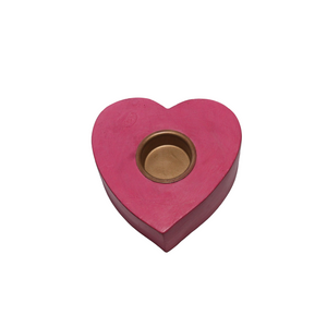Pink Heart Candles - Set of 2