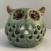 Large Eyes Owl Round Tealight Holder