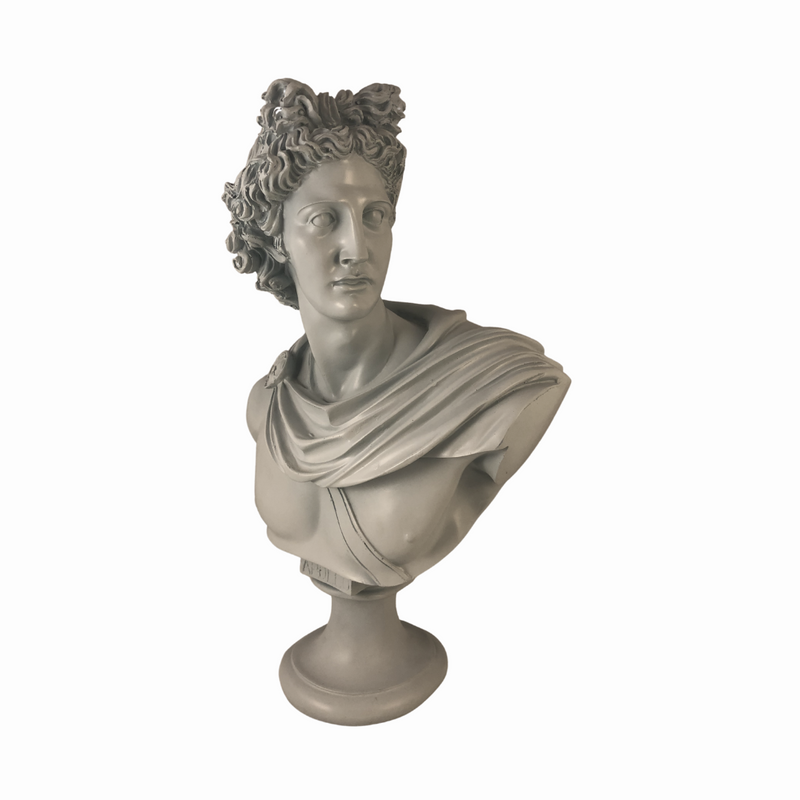 Apollo Bust Sculpture in Pastel