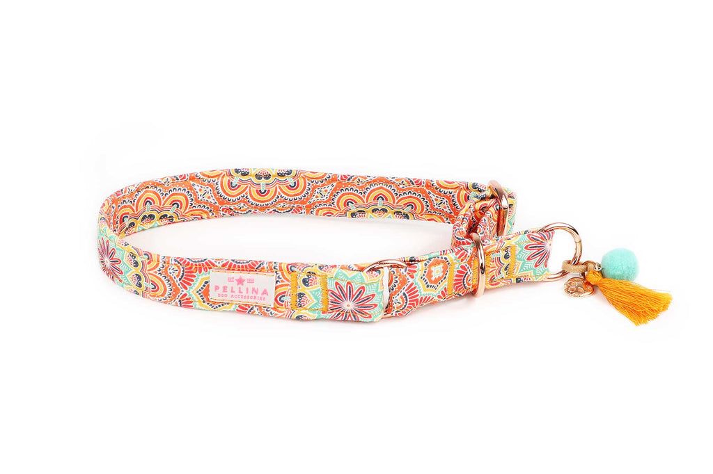 "Schlupfhalsband ""Hippie Orange"""
