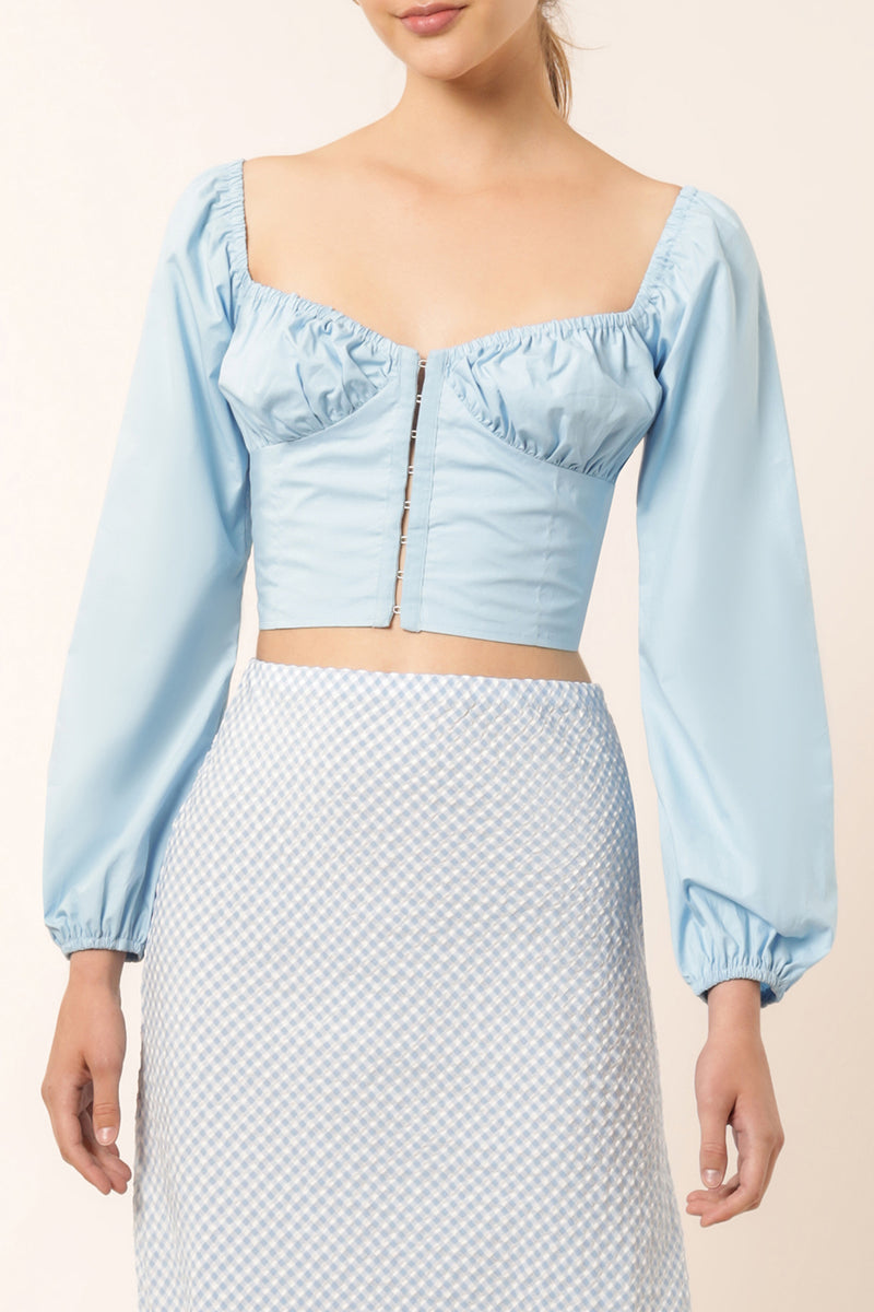 LILLIAN POPLIN TOP