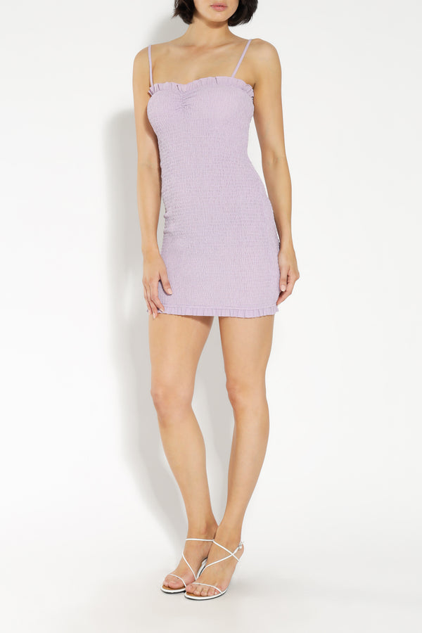 DION SHIRRED MINI DRESS