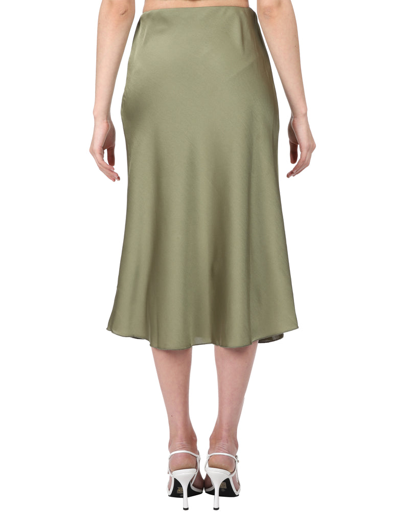 Lulu & Rose Tia Midi Skirt Green Back View