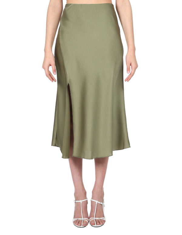 Lulu & Rose Tia Midi Skirt Green