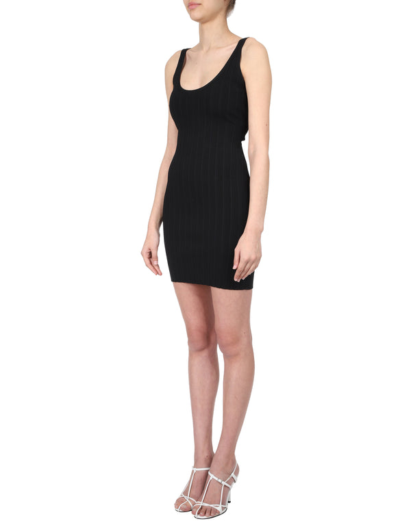 Lulu & Rose Quinn Knit Dress Black Side View