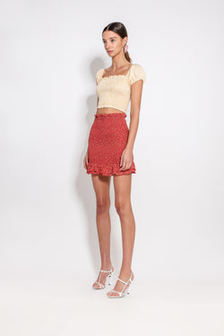 Suri Shirred Skirt